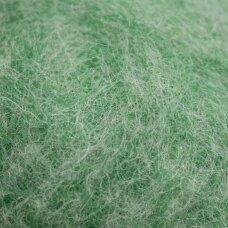 viln0208-50g, žalia spalva, vilna vėlimui, 50g.