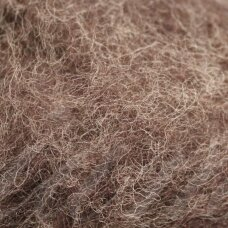 viln0495-50g, dark, brown color, felting wool, 50g.