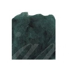 viln0225-50g, dark, green color, felting wool, 50g.