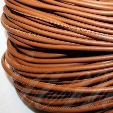 virv0105 apie 4 mm, šviesi, ruda spalva, dirbtinė oda, 1 m