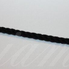 virvmd0002-03 apie 3 mm, juoda spalva, medvilnė, virvė, 1 m.