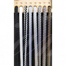 vr0015 apie 2 mm, šviesi, pilka spalva, virvė, rankinėms nerti, apie 200 m.