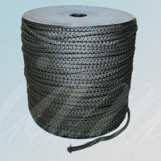 vr0020 apie 5 mm, tamsi, chaki spalva, virvė, rankinėms nerti, apie 200 m.
