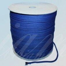 vr0027 apie 5 mm, mėlyna spalva, virvė, rankinėms nerti, apie 200 m.