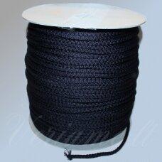 vr0029 apie 5 mm, tamsi, mėlyna spalva, virvė, rankinėms nerti, apie 200 m.