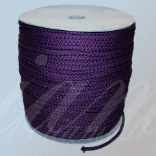 vr0031 apie 3 mm, violetinė spalva, virvė, rankinėms nerti, 200 m.