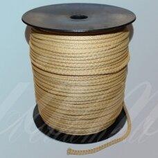 vr0032 apie 3 mm, gelsva spalva, virvė, rankinėms nerti, 200 m.