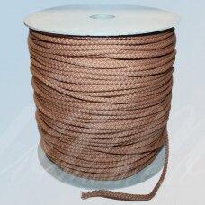 vr0037 apie 3 mm, kreminė spalva, virvė, rankinėms nerti, apie 200 m.