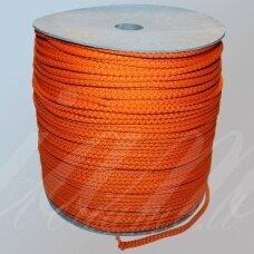 vr0042 apie 3 mm, oranžinė spalva, virvė, rankinėms nerti, 200 m.