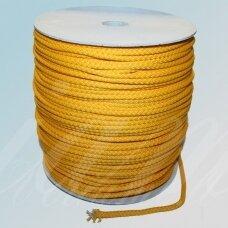 vr0044 apie 3 mm, geltona spalva, virvė, rankinėms nerti, apie 200 m.