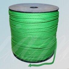 vr0047 apie 3 mm, šviesi, žalia spalva, virvė, rankinėms nerti, apie 200 m.