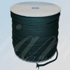 vr0050 apie 5 mm, tamsi, žalia spalva, virvė, rankinėms nerti, apie 200 m.