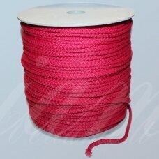 vr0053 apie 3 mm, tamsi, rožinė spalva, virvė, rankinėms nerti, apie 200 m.