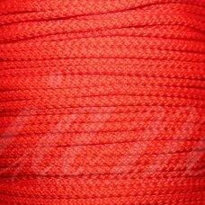 vr0055 apie 3 mm, raudona spalva, virvė, rankinėms nerti, apie 200 m.