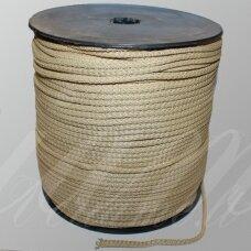 vr0061 apie 5 mm, kreminė spalva, virvė, rankinėms nerti, apie 200 m.