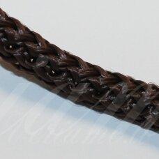 vr0067 apie 3 mm, tamsi, ruda spalva, virvė, rankinėms nerti, apie 200 m.
