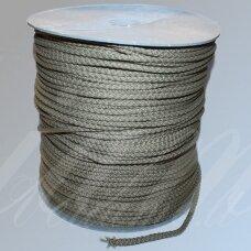 vr0096 apie 3 mm, chaki spalva, virvė, rankinėms nerti, apie 200 m. x 2  /  2 vnt