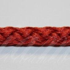 vr0102 apie 3 mm, tamsi, oranžinė spalva, virvė, rankinėms nerti, apie 200 m. x 2  /  2 vnt