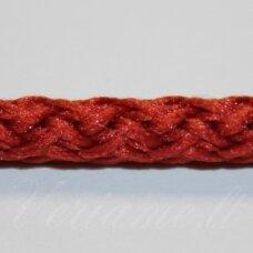 vr0102 apie 5 mm, tamsi, oranžinė spalva, virvė, rankinėms nerti, apie 200 m. x 2  /  2 vnt