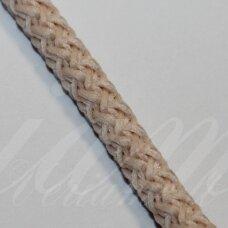 vr0103 apie 3 mm, kreminė spalva, virvė, rankinėms nerti, apie 200 m. x 2  /  2 vnt