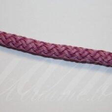 vr0114 apie 5 mm, rožinė spalva, virvė, rankinėms nerti, apie 200 m. x 2  /  2 vnt
