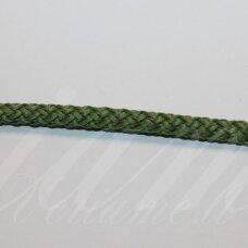 vr0116 apie 5 mm, žalia spalva, virvė, rankinėms nerti, apie 200 m. x 2  /  2 vnt