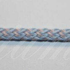 vr0131 apie 5 mm, balta - žydra spalva, virvė, rankinėms nerti, 200 m.