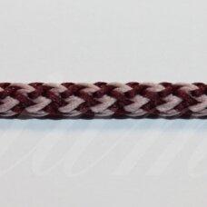 vr0128 apie 5 mm, marga, bordo spalva, šviesi, rožinė spalva, virvė, rankinėms nerti, 200 m.