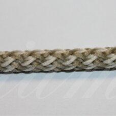 vr0129 apie 5 mm, marga, kreminė - samaninė spalva, virvė, rankinėms nerti, 200 m.