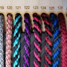 vr0125 apie 3 mm, marga, juoda spalva, mėlyna spalva, virvė, rankinėms nerti, 200 m.