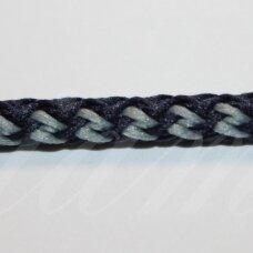 vr0130 apie 5 mm, marga, tamsi, mėlyna spalva, šviesi, mėlyna spalva, virvė, rankinėms nerti, 200 m.