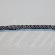 vr0138 apie 5 mm, pilka spalva, virvė, rankinėms nerti, 200 m.