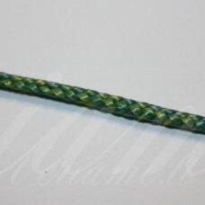 vr0202 apie 3 mm, marga, žalia spalva, virvė, rankinėms nerti, 200 m.
