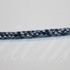vr0204 apie 3 mm, marga, balta - mėlyna spalva, virvė, rankinėms nerti, 200 m.