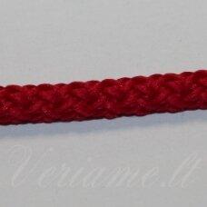 vr0217 apie 3 mm, raudona spalva, virvė, rankinėms nerti, 200 m.