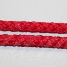 vr0222 apie 3 mm, raudona spalva, virvė, rankinėms nerti, 200 m.