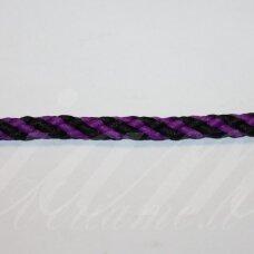 vr0223 apie 5 mm, juoda spalva, violetinė spalva, virvė, rankinėms nerti, 200 m.