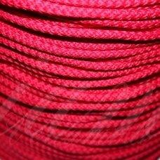 vr0224 apie 5 mm, raudona spalva, virvė, rankinėms nerti, 200 m.