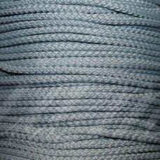 vr0225 apie 5 mm, pilka spalva, virvė, rankinėms nerti, 200 m.