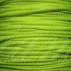 vr0226 apie 5 mm, neoninė, salotinė spalva, virvė, rankinėms nerti, 200 m.