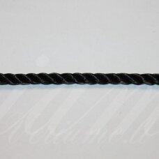 VRSUK0032 apie 5mm, juoda spalva, sukta virvutė, 1 m.