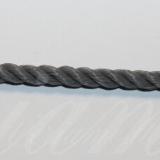vrsuk0044 about 5mm, dark, grey color, twisted rope, about 150 m.