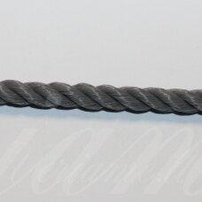 vrsuk0044 about 5mm, dark, grey color, twisted rope, 1 m.