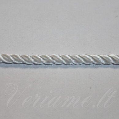 vrsuk0031 apie 5mm, balta spalva, sukta virvutė, apie 150 m.