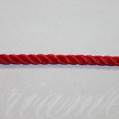 VRSUK0033 apie 5mm, raudona spalva, sukta virvutė, apie 150 m.
