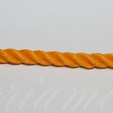vrsuk0036 apie 5 mm, šviesi, oranžinė spalva, sukta virvutė, 1 m.