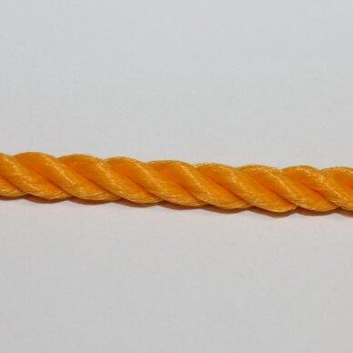 vrsuk0036 apie 5mm, švieši, oranžinė spalva, sukta virvutė, apie 150 m.