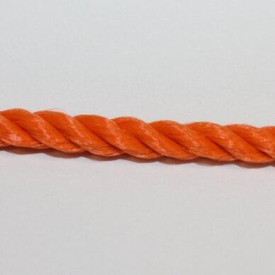 vrsuk0034 apie 5 mm, oranžinė spalva, sukta virvutė, 1 m.