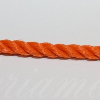vrsuk0034 apie 5 mm, oranžinė spalva, sukta virvutė, apie 150 m.