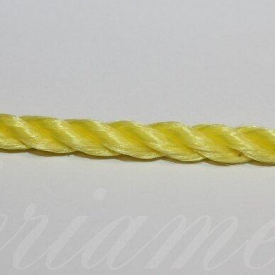 vrsuk0035 apie 5mm, geltona spalva, sukta virvutė, 1 m.